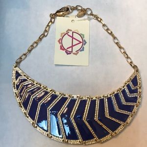 🆕 Amrita Singh Blue and Gold Necklace